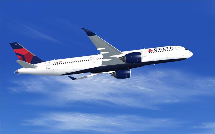 FSX Delta Airlines Airbus A350-900