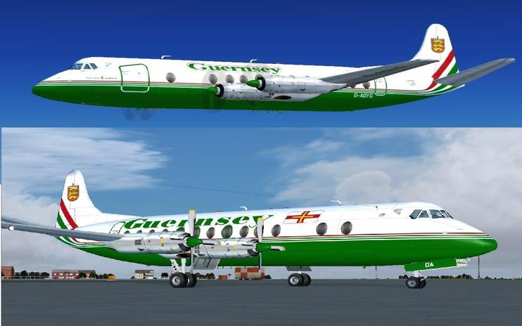 FSX Guernsey Airlines Viscount 806