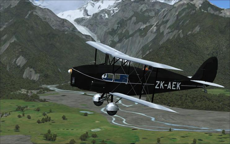 FS2004 DeHavilland Fox Moth ZK-AEK