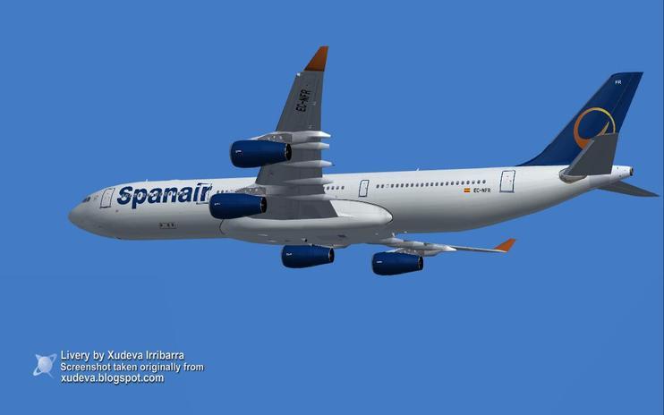 FS2004 Spanair Airbus A340-313X by Xudeva Irribarra / FSX Add-ons