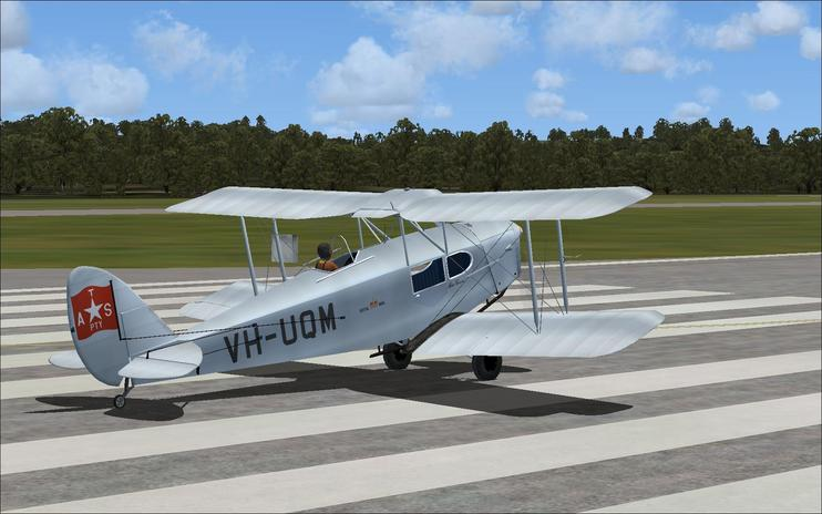 FS2004  DeHavilland Fox Moth VH-UQM