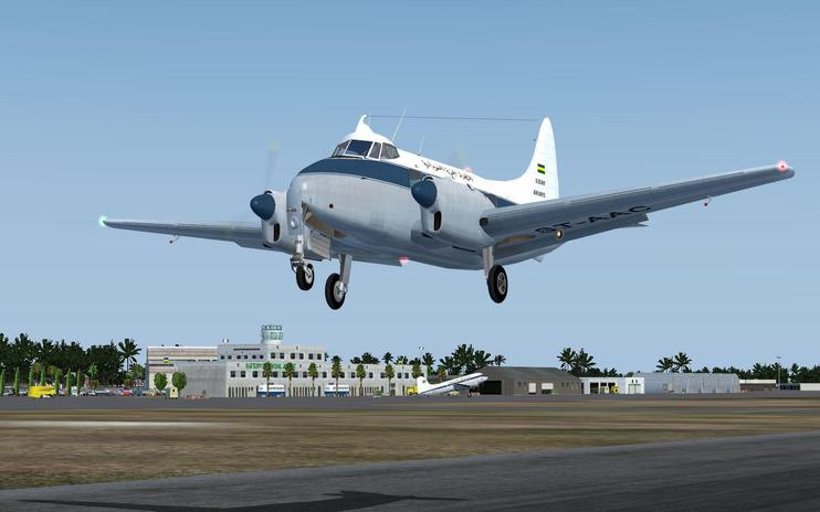 FS2004 Sudan Airways DeHavilland DH 104 Dove