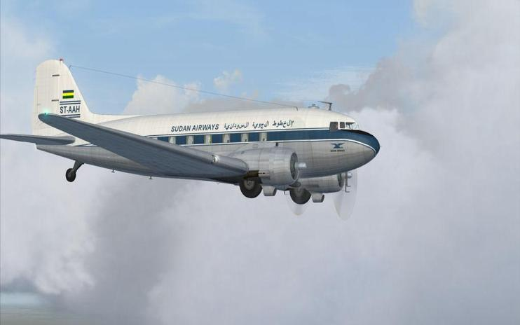 FS2004 Sudan Airways Douglas C-47