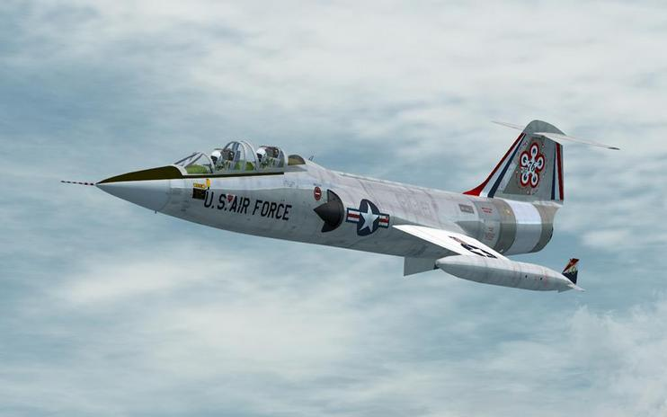 FSX USAF Lockheed TF-104G Starfighter 1970's