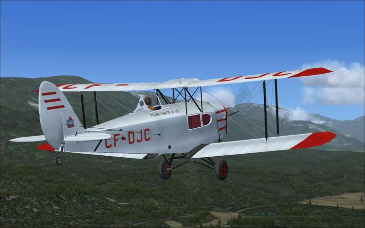 FS2004 DeHavilland Fox Moth CF-DJC