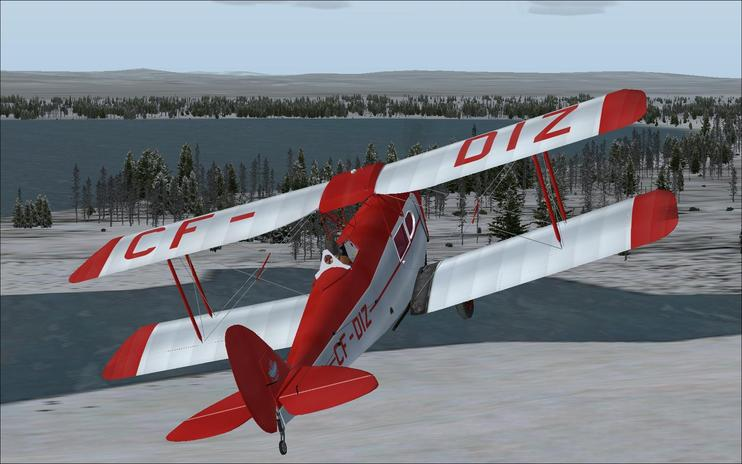 FS2004/FSX DeHavilland Fox Moth CF-DIZ Update