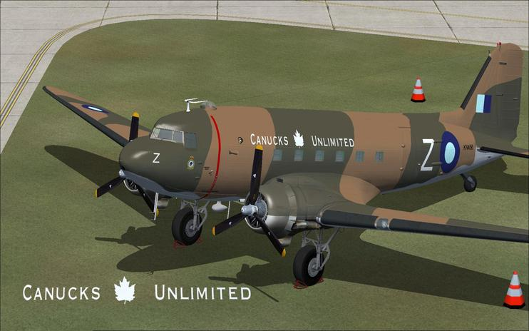 FSX Douglas DC-3 KN456 Canucks Unlimited