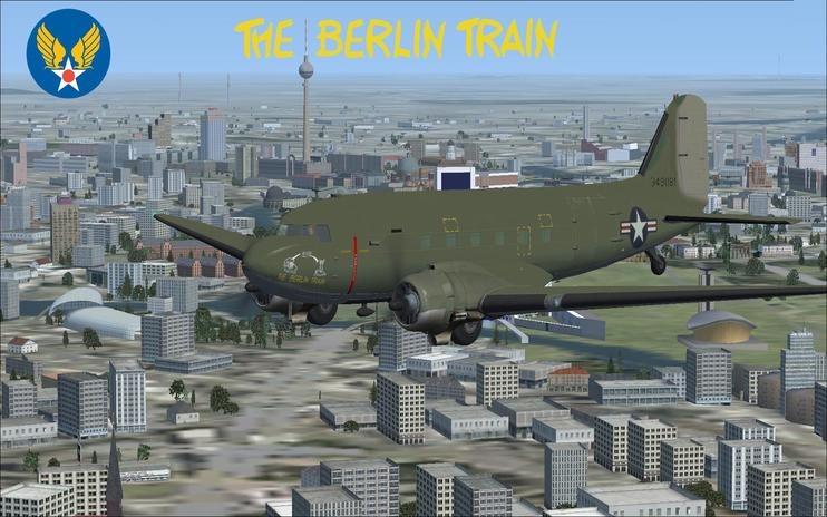 FSX Douglas C-47 The Berlin Train Repaint