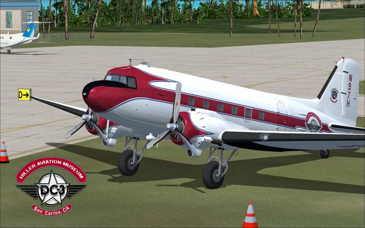 FSX Hiller Aviation Museum Douglas DC-3