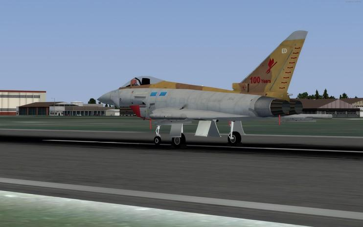 FSX Royal Air Force Eurofighter Typhoon