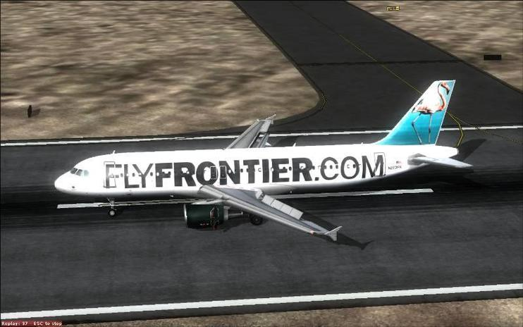 FSX Frontier Airlines Airbus A320