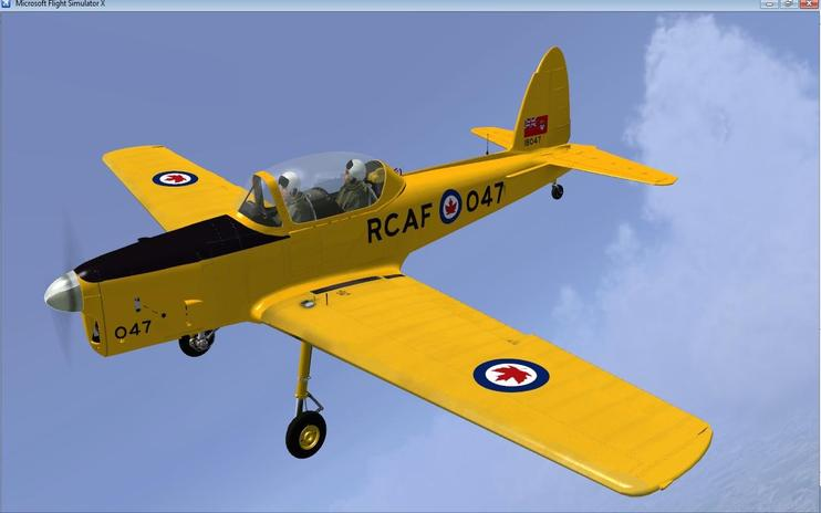 FSX Three Yellow RCAF Chipmunks