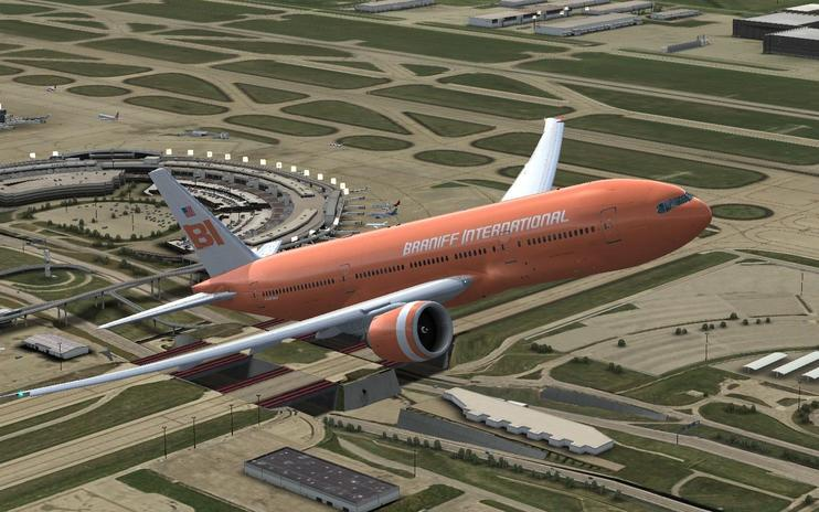 "FSX Boeing 777-200 ""Big Orange 2"""