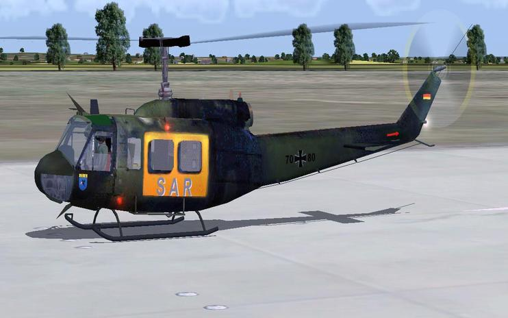 FS2004 German Bell UH-1H Huey
