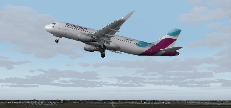 FS2004 Eurowings Airbus A320-214