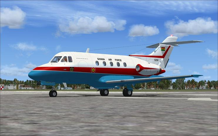 FSX Ghana Air Force de Havilland DH125