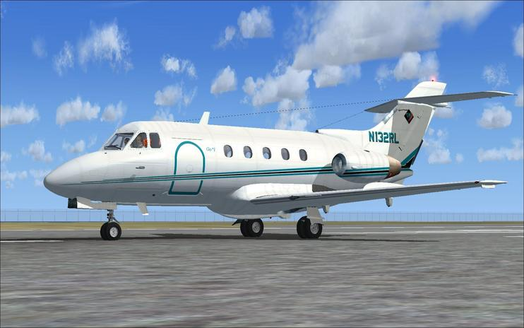 FSX de Havilland DH125 N132RL