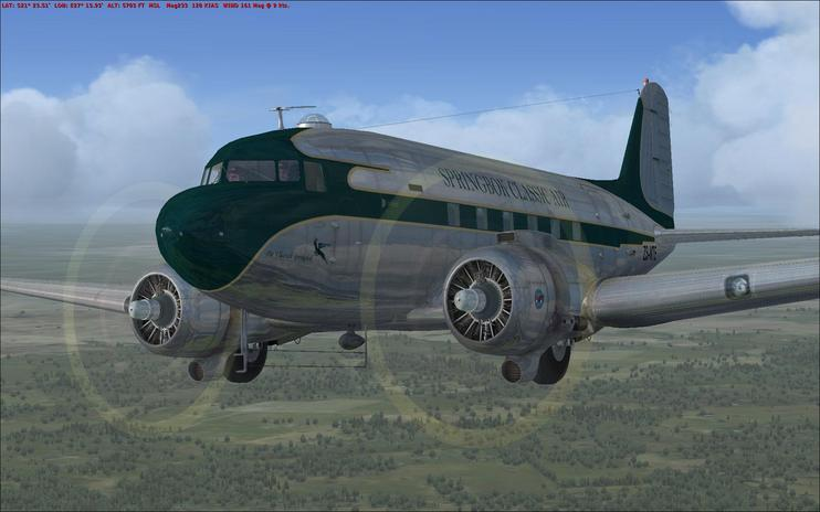 FSX Springbok Classic Air Douglas C-47 Improved