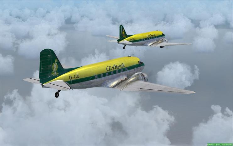 FSX Air North Douglas C-47 Skytrain
