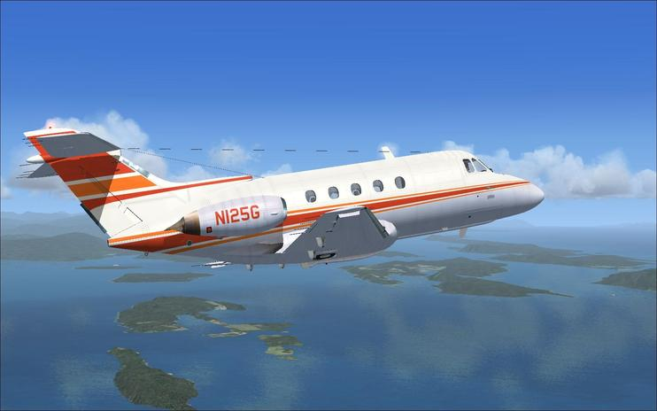 FSX de Havilland DH125 N125G