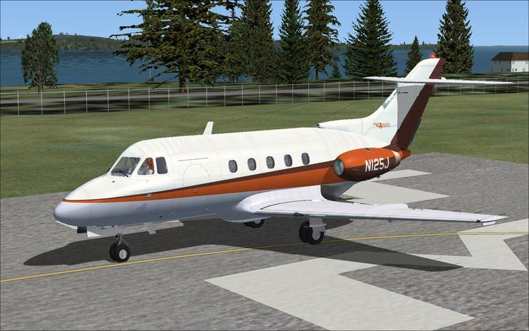 FSX de Havilland DH125 N125J
