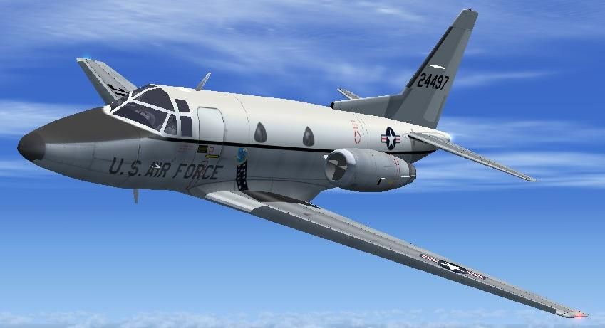 FSX Rockwell T-39 Sabreliner Twin Package