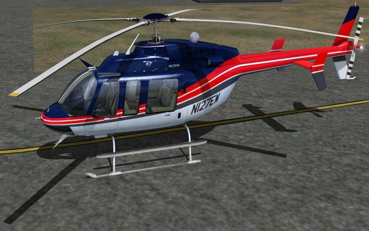 FSX Red And Blue Bell 407