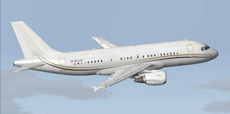 FS2004 Tyrolean Jet Service Airbus A319-115