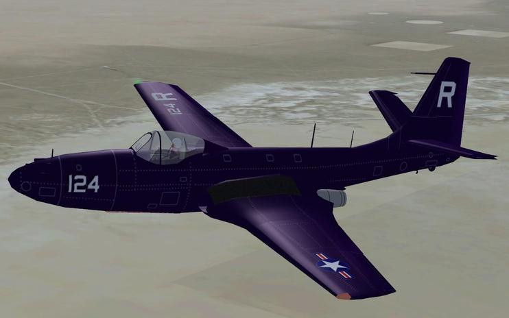 FSX McDonnell FH-1 Phantom With Updated Panel