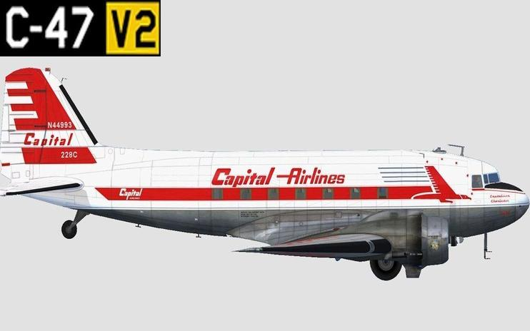 "FSX Capital Airlines ""Capitaliner Charleston"" DC-3"
