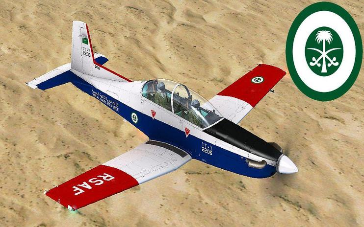 FSX Royal Saudi Air Force Pilatus PC-9