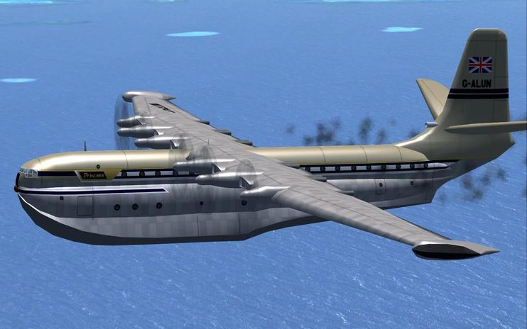 FSX Saunders Roe SR-45 With Updated Panel