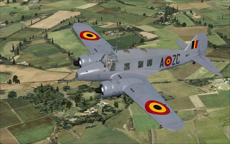 FSX Belgian Air Force Avro Anson C12
