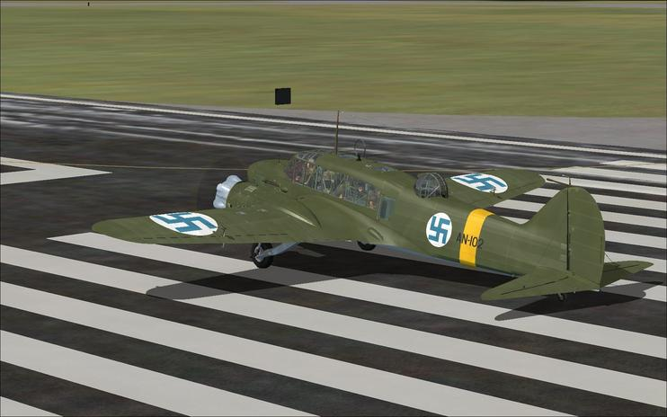 FSX Finnish Air Force Avro Anson MK1