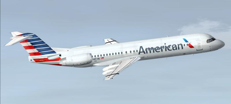 FS2004 American Airlines Fokker 100