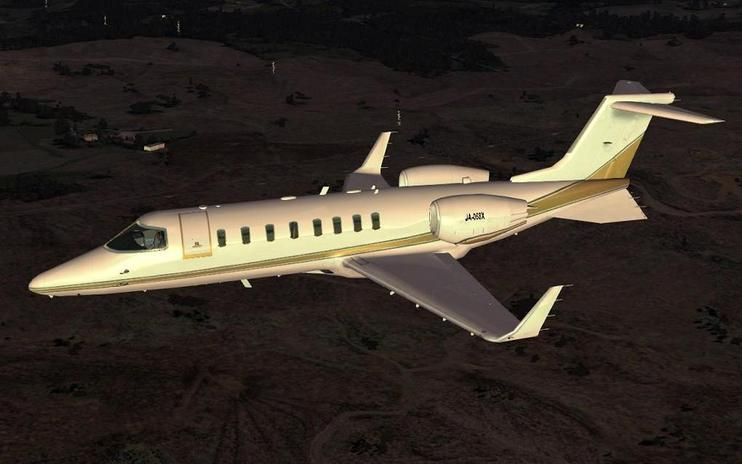 FSX Default Learjet 45 - Corrected Flight Dynamics
