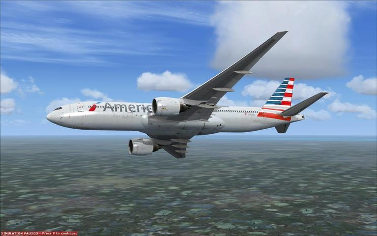FSX American Airlines Boeing 777-200ER