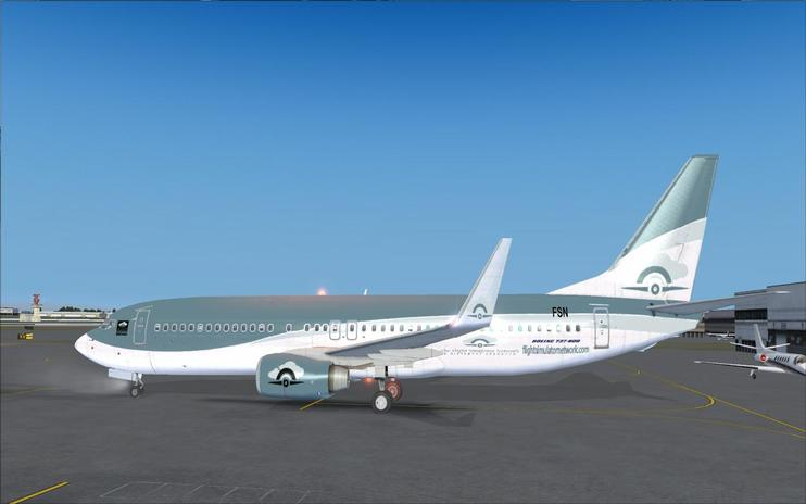FSX FlightSimulatorNetwork Boeing 737-800