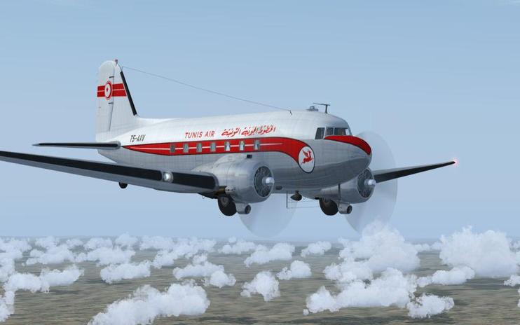 FS2004 Tunis Air Douglas C-47