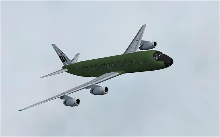 FSX Braniff International Douglas DC-8 Green Jellybean by