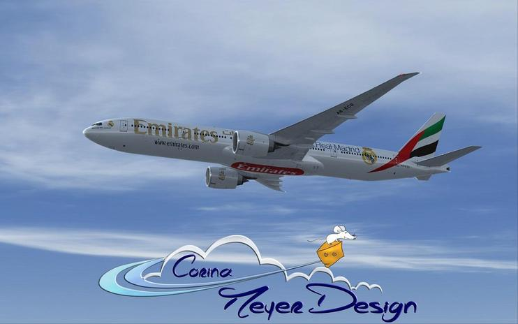 "FSX Emirates ""Real Madrid"" Boeing 777-300ER"