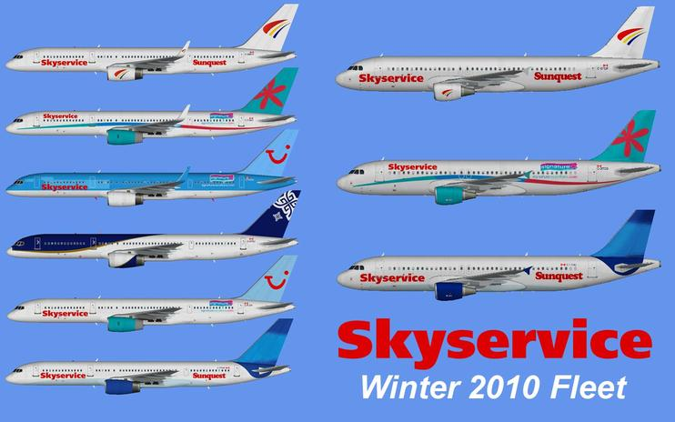 FSX Skyservice W10 Fleet And Flight Plans Pack