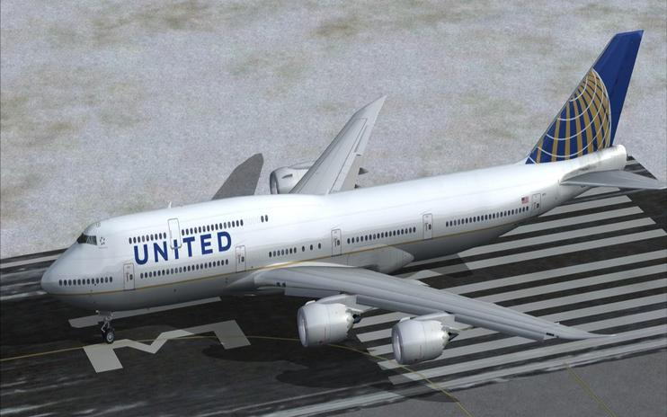 FSX United Airlines Boeing 747-8