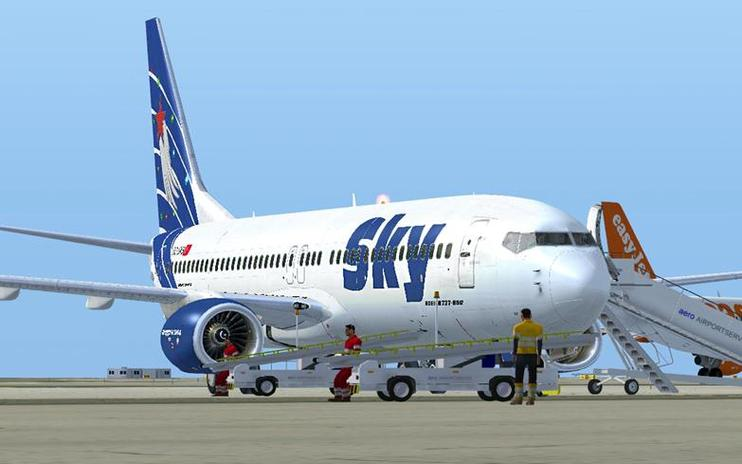 FSX Sky Airlines Boeing 737-800