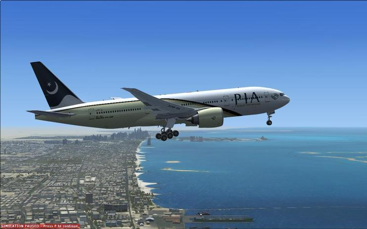 FSX Pakistan International Airlines Boeing 777