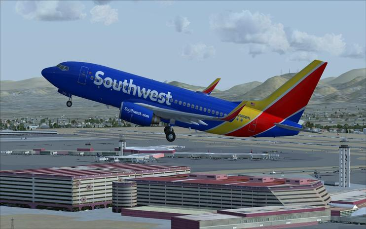 FS2004/FSX Southwest Airlines Boeing 737-700