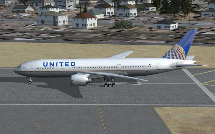 FSX United Airlines Boeing 777-200