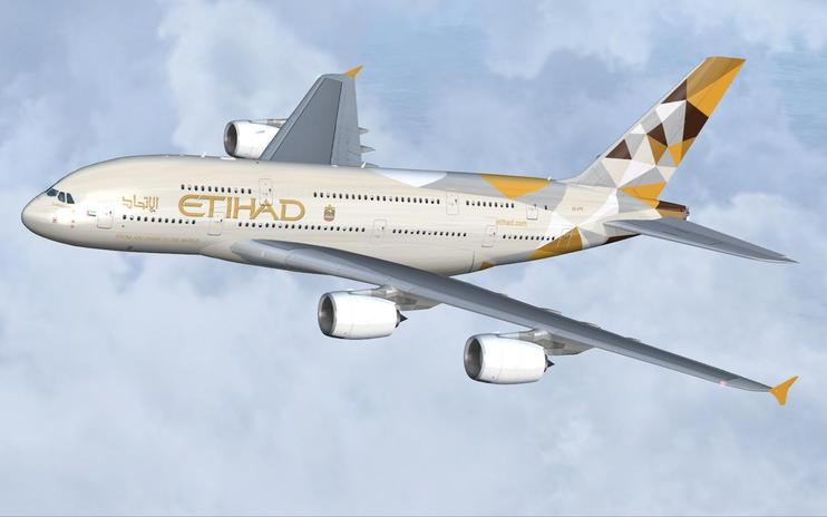 FS2004/FSX Etihad Airways Airbus A380-800