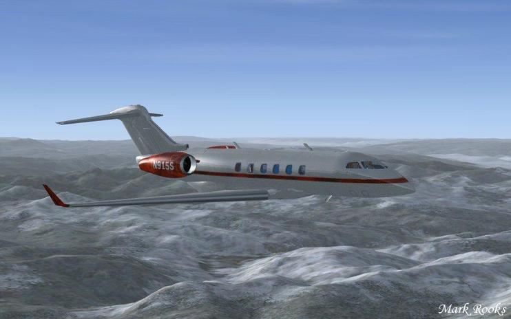 FSX Bombardier Challenger N915S