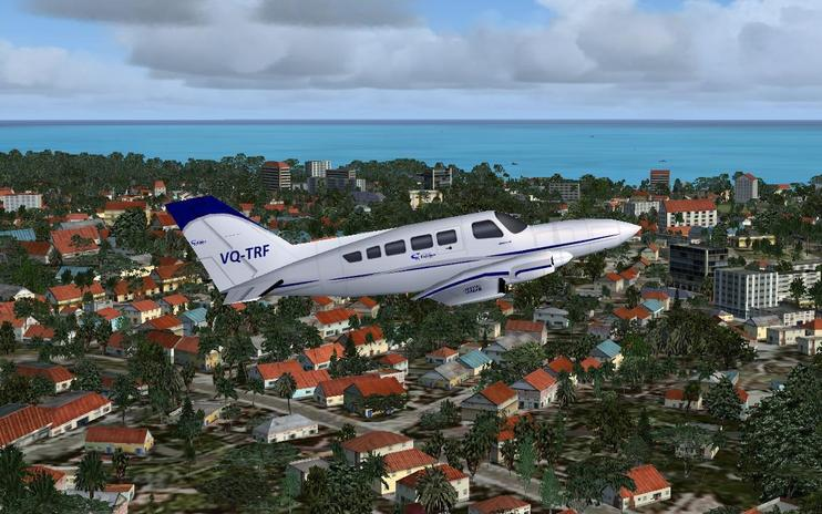 FS2004 Caicos Express Airways Cessna 402C